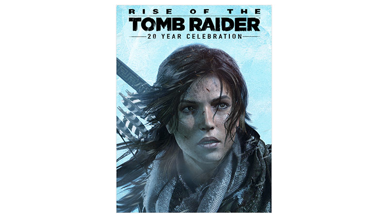 Rise of the Tomb Raider 20 Year Edition -pakkauksen kansi