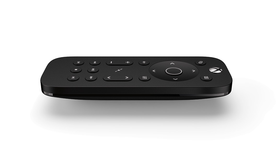 Xbox One Media Remote set vandret fra siden