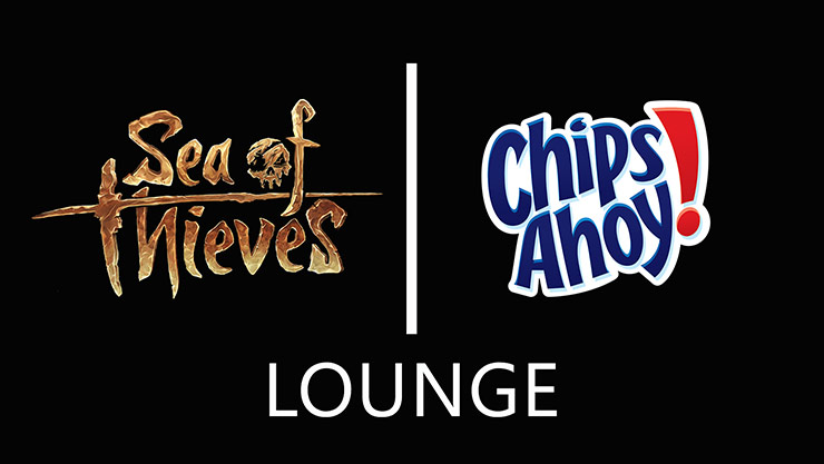 Sea of Theives and Chips Ahoy logos
