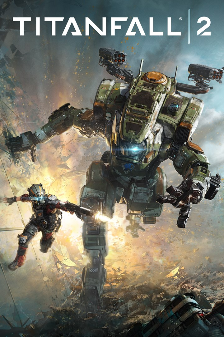 A packshot of Titanfall 2 above text,
