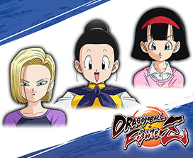 Dragon Ball FighterZ, Faces of Android 18, Chi-Chi, en Videl