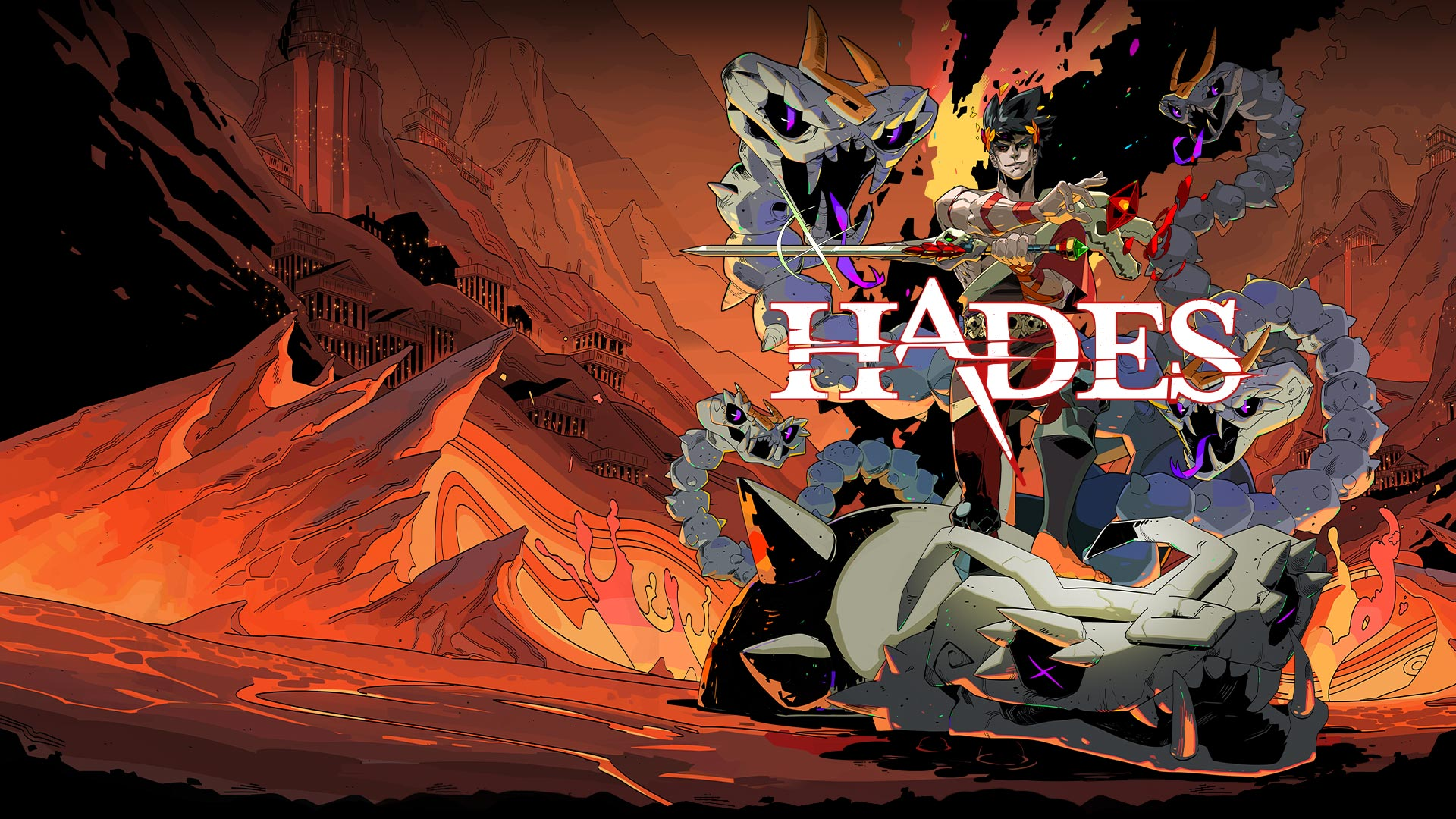 Key art from the game Hades.
