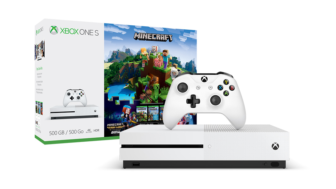 Xbox One S Minecraft Complete Adventure Bundle