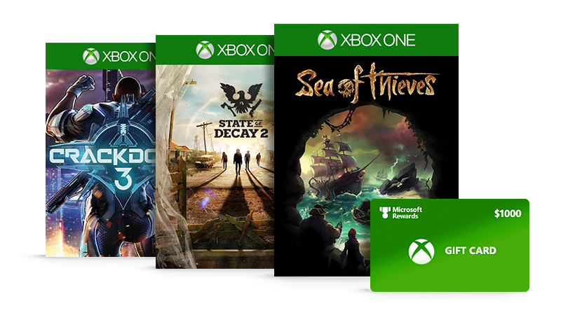 Win a $1000 Xbox gift card with Microsoft Rewards