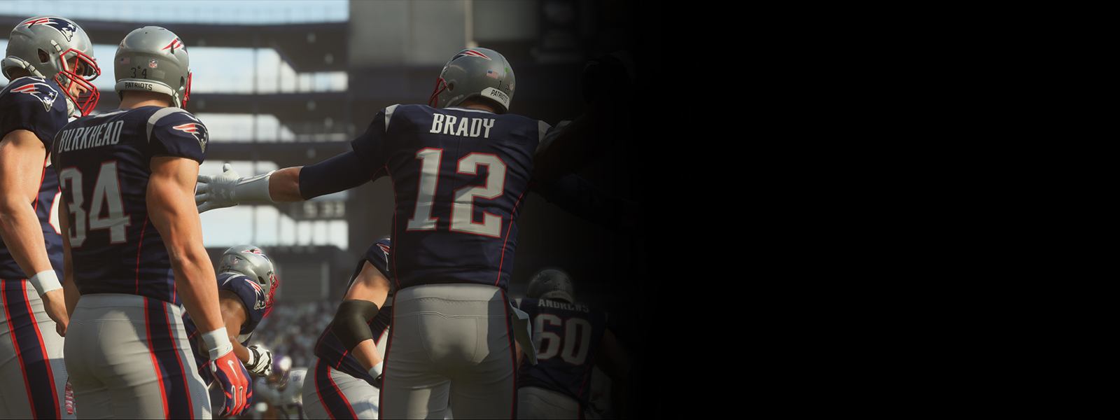 A shot from Madden NFL 19 showing players in the heat of a game