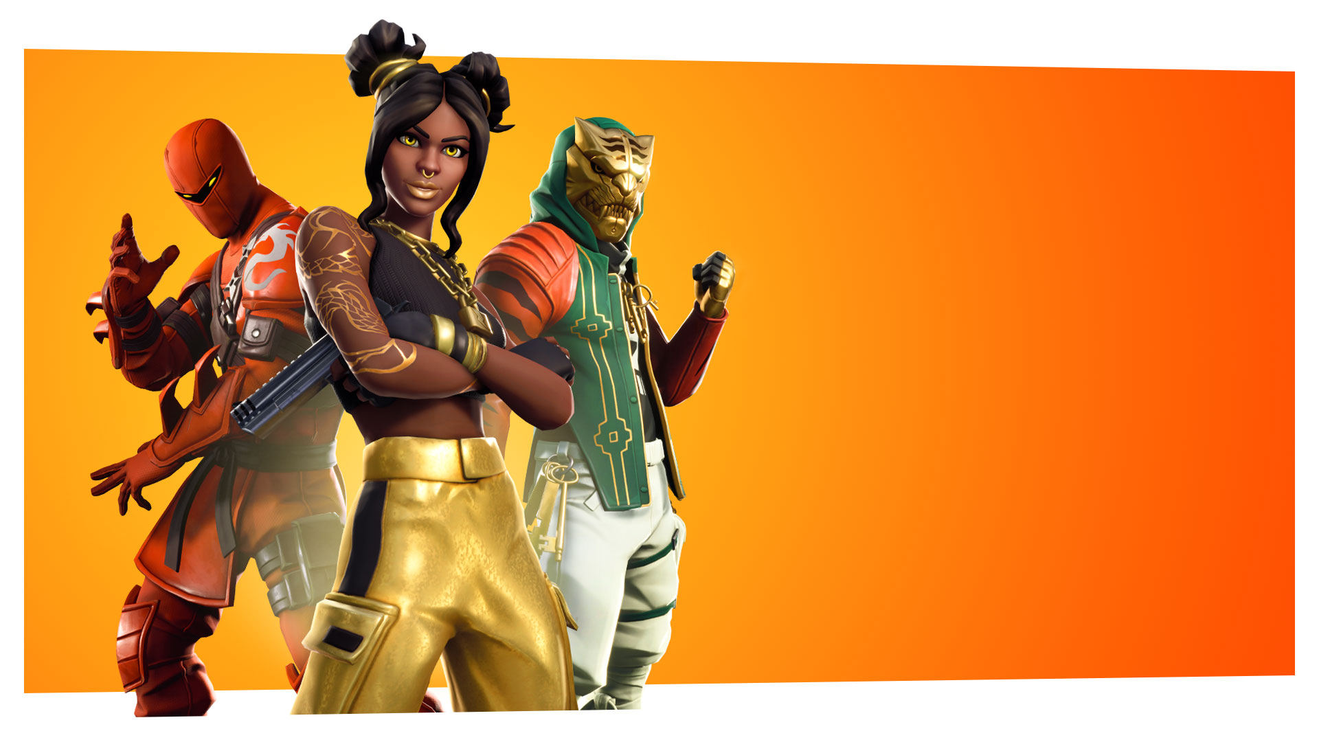 Fortnite Season 8 characters posing in formation
