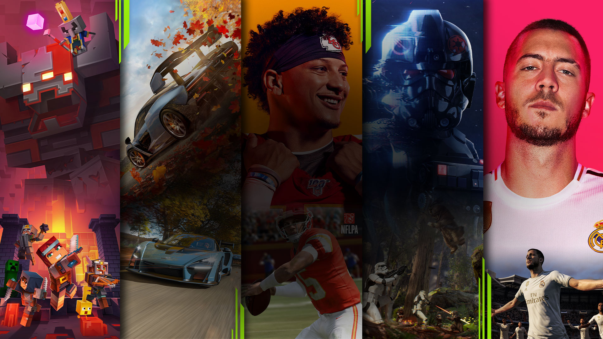 Xbox Game Pass, mosaic of EA play and Xbox Game Pass characters
