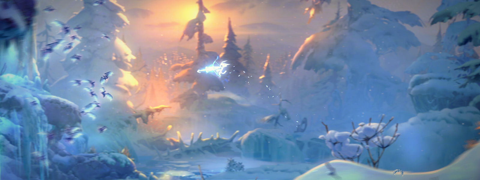 Ori fires a glowing arrow