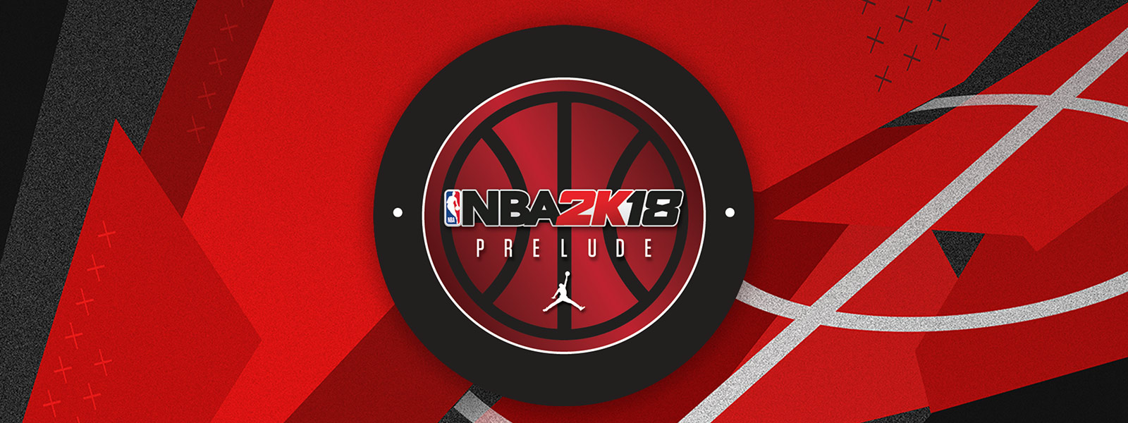 NBA 2K18: The Prelude, sobre un fondo abstracto rojo