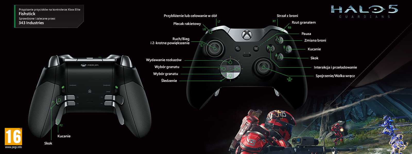 Halo 5 – mapowanie Elite pod kątem trybu Fishstick