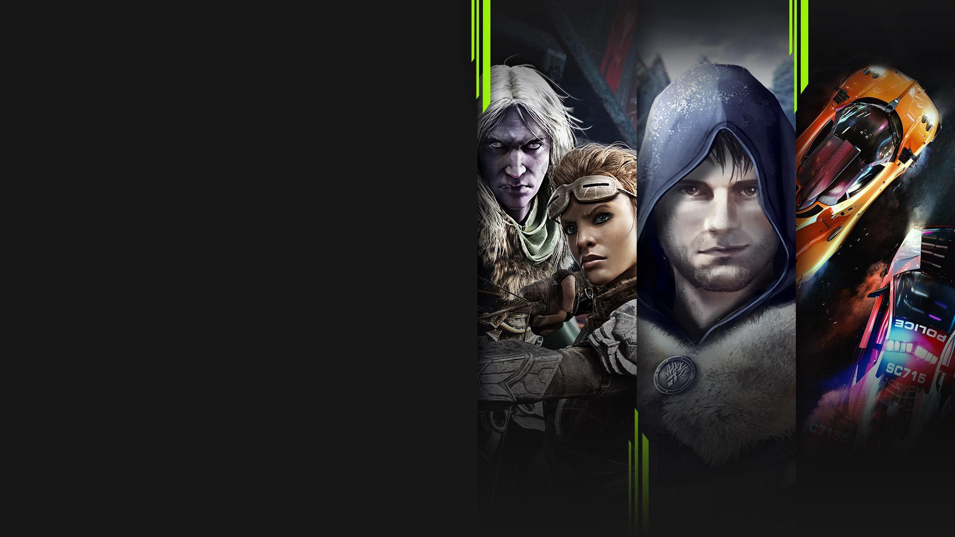 Game-Art zu mehreren Spielen, die jetzt mit Xbox Game Pass erhältlich sind, darunter Dungeons & Dragons: Dark Alliance, Medieval Dynasty, Need for Speed Hot Pursuit Remastered und Yakuza: Like a Dragon.