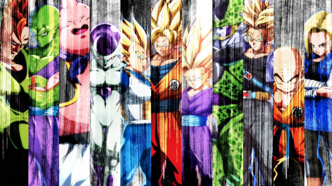 Collage of Dragon Ball Z characters