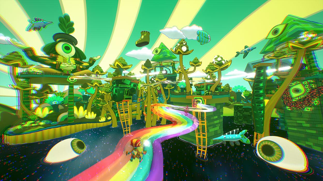 Στιγμιότυπο οθόνης από το παιχνίδι Psychonauts 2.