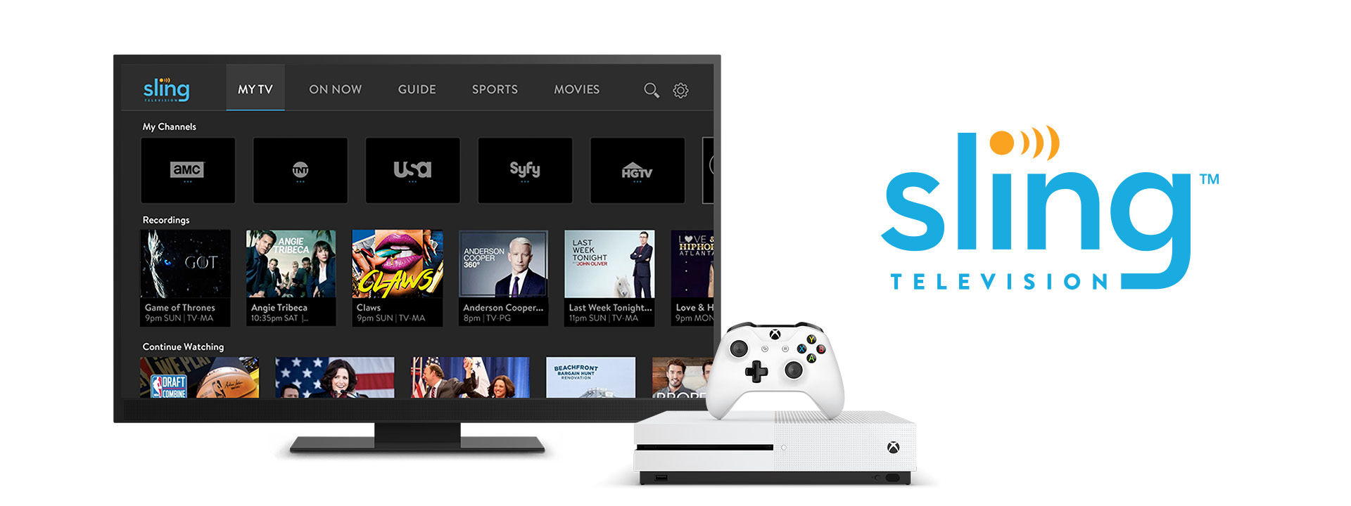Sling TV on an Xbox One