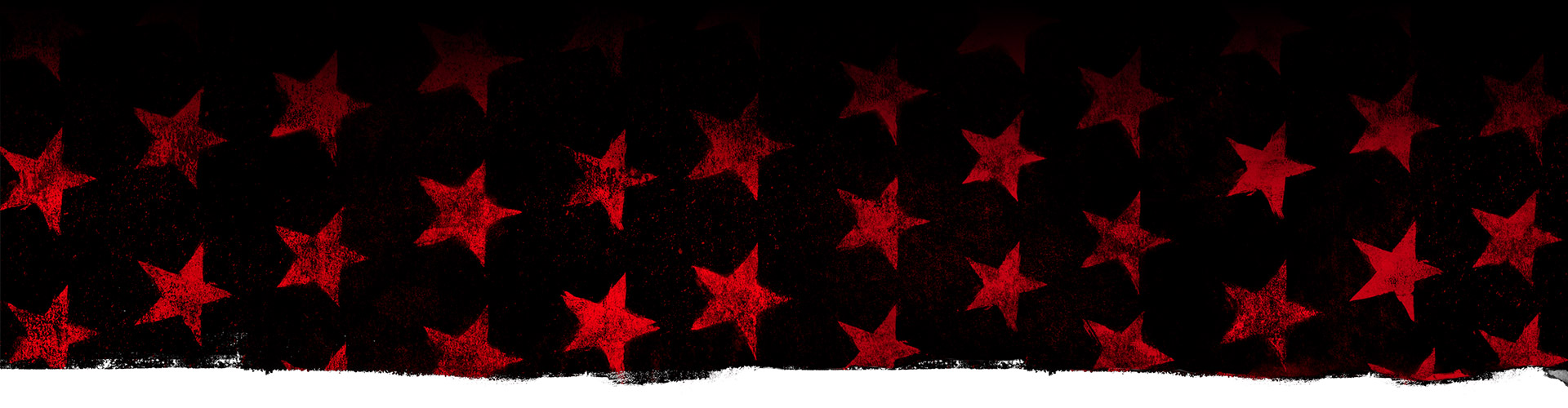 Red stars against a black background.