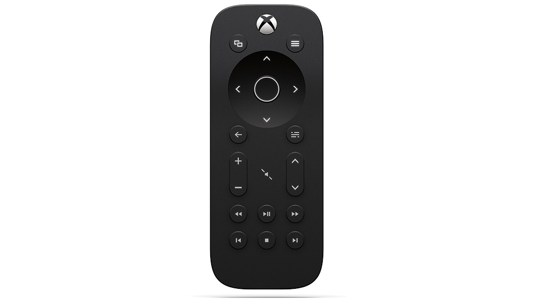 Vista giratoria del control multimedia para Xbox One