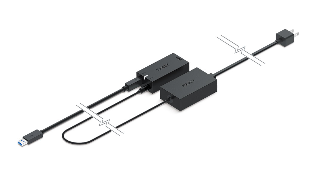 Kinect-adapter set forfra