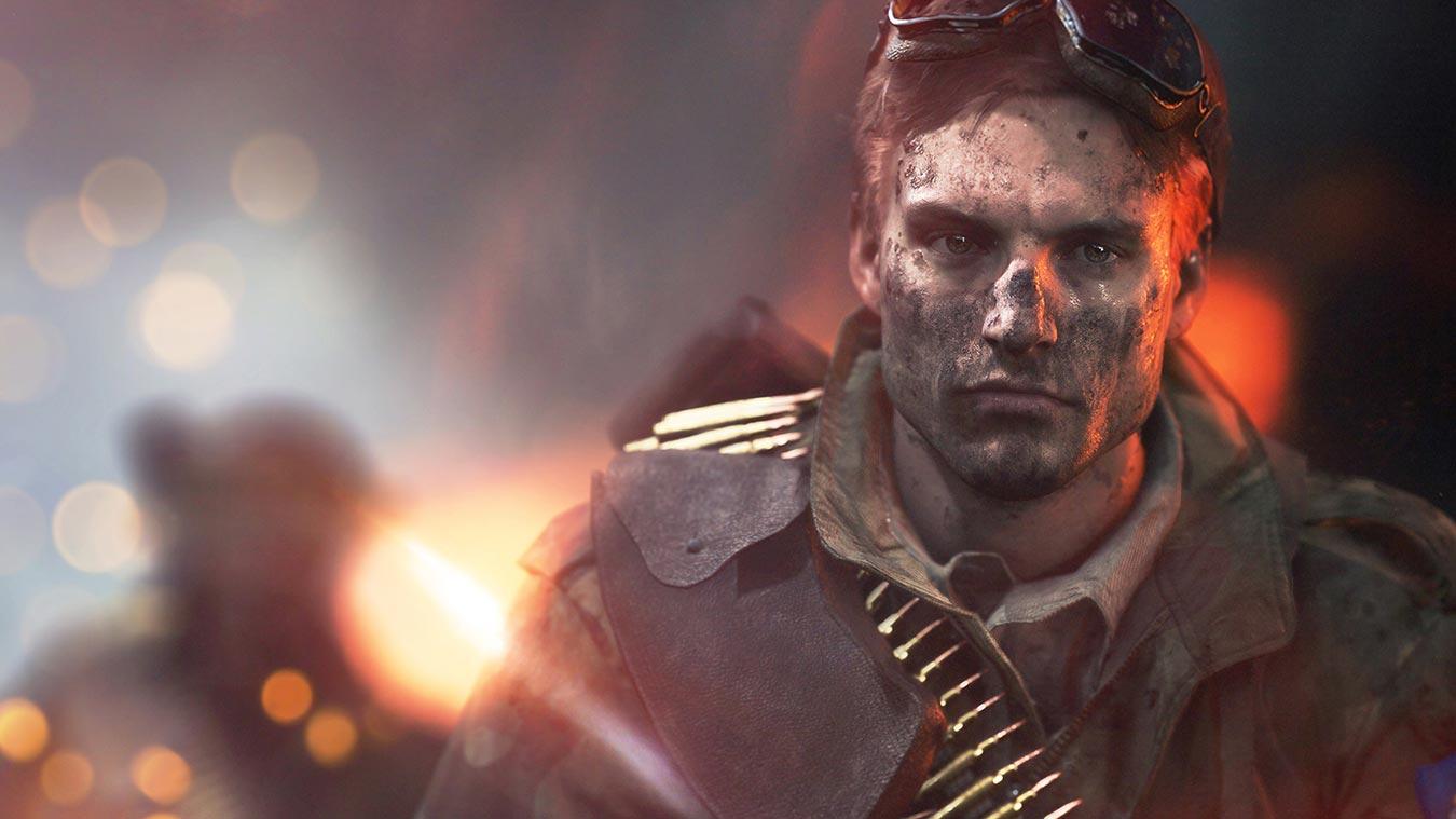 Cara de un hombre soldado