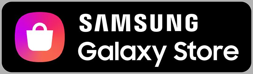 Knapp med Samsung-logoen og teksten Samsung Galaxy Store