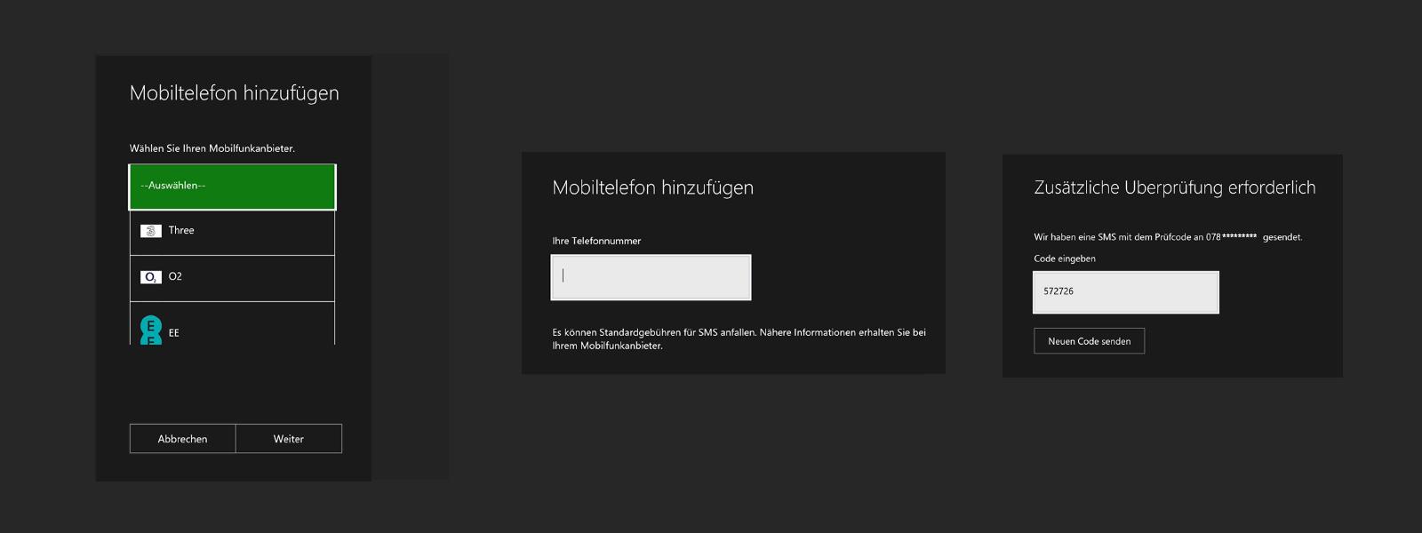 Bildschirm, der Mobiltelefon-Details anzeigt
