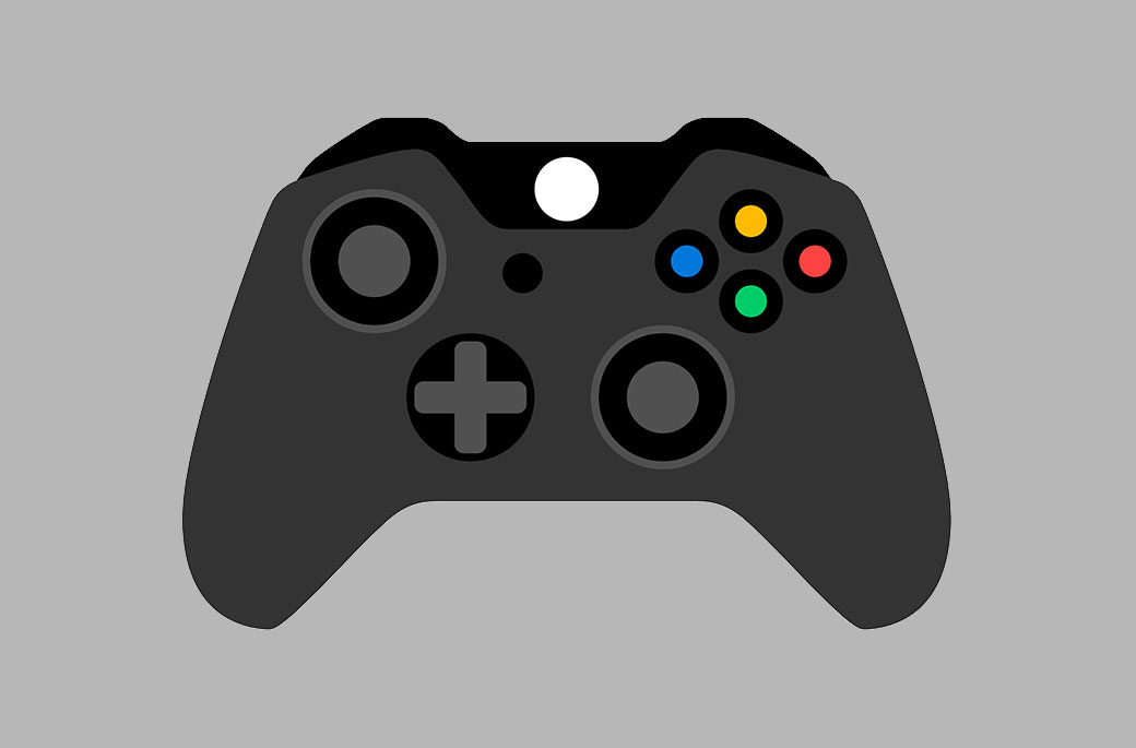 An illustration of a black Xbox Wireless Controller.