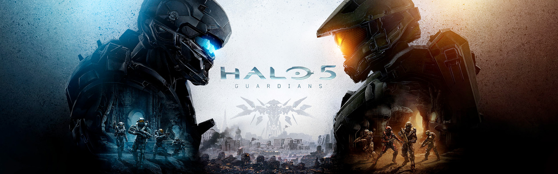 Halo 5 guardians for xbox one xbox halo 5 guardians two spartans facing each other voltagebd Choice Image