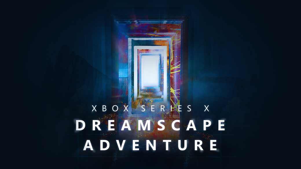 Xbox SeriesX Dreamscape Adventure. A door with other doors in a dream like state.