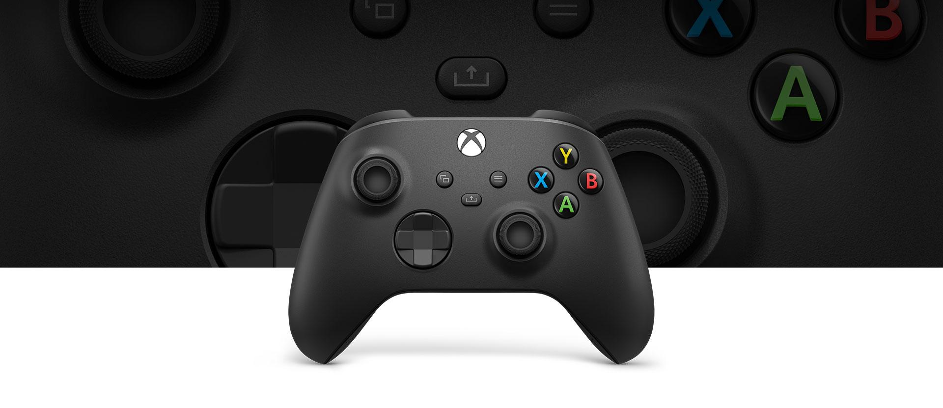 Controle Xbox Carbon Black à frente