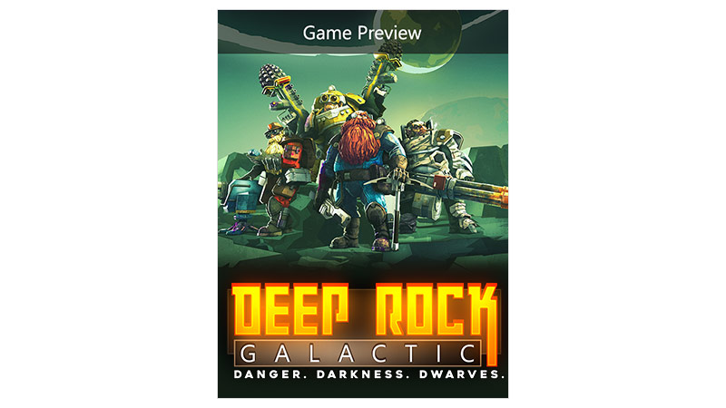 Deep Rock Galactic Game Preview Edition -pakkauksen kansi