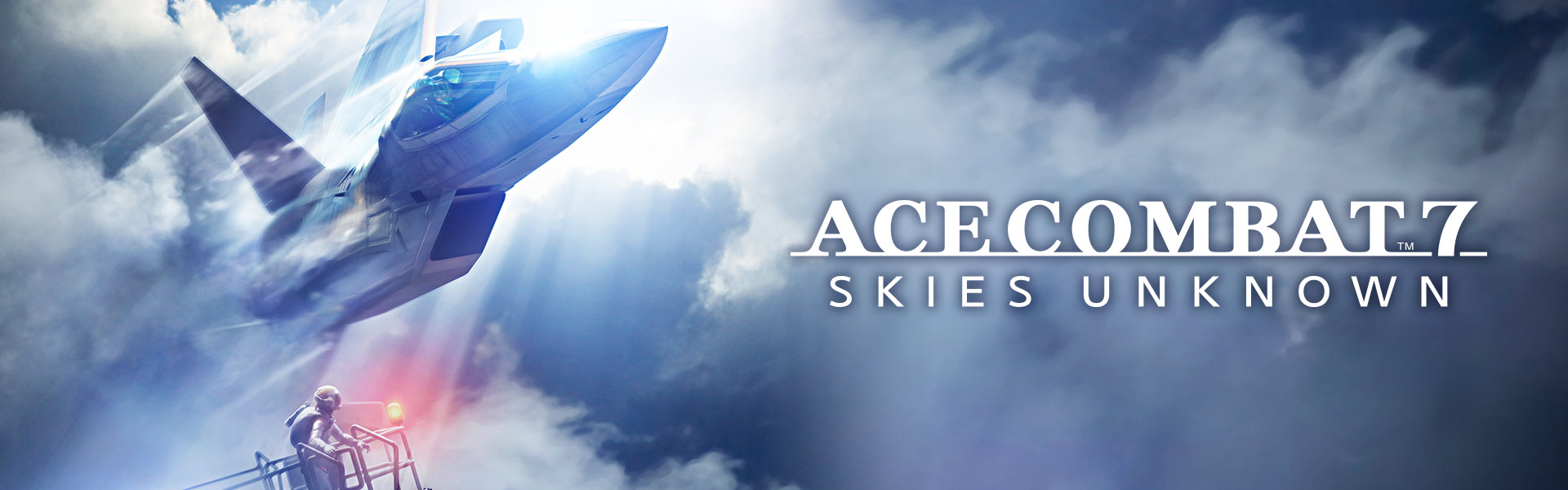 ACE COMBAT™ 7: SKIES UNKNOWN, fighter jet streaking through the clouds