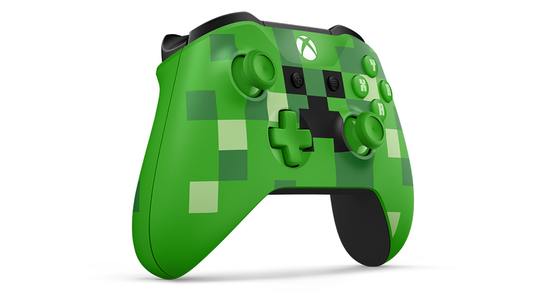 Left angle view of Minecraft Creeper Controller