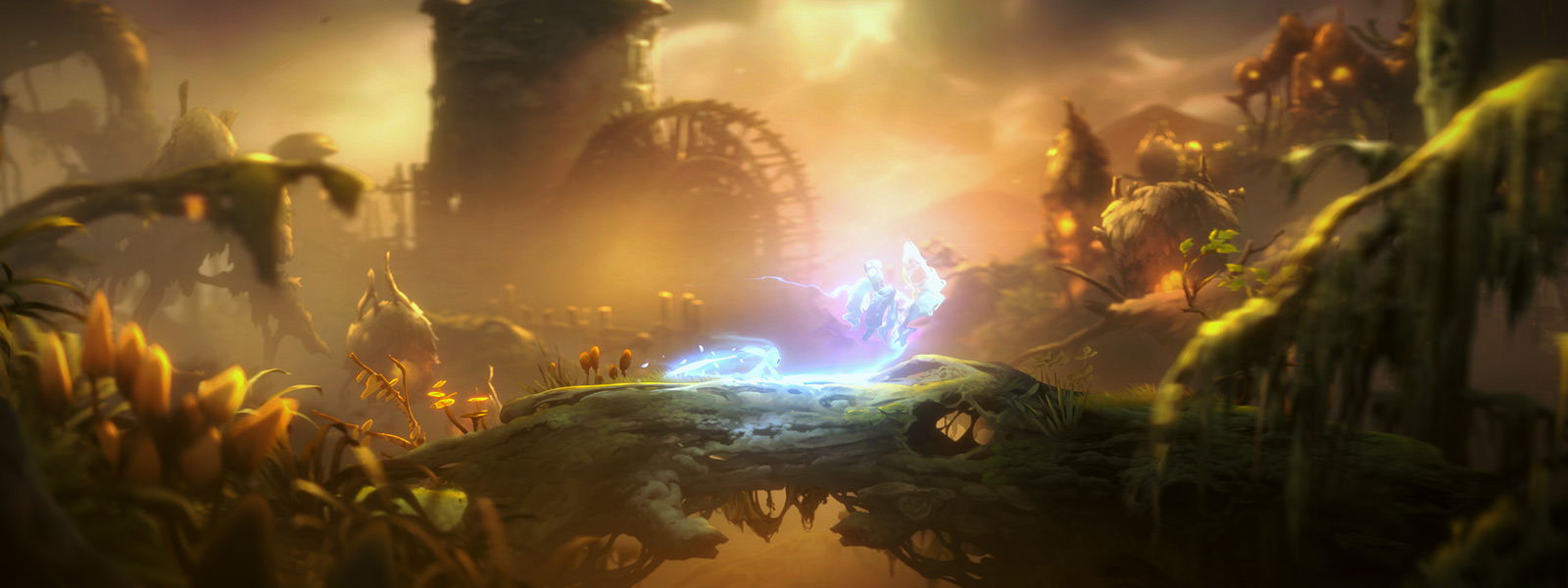 Ori uses a spirit weapon