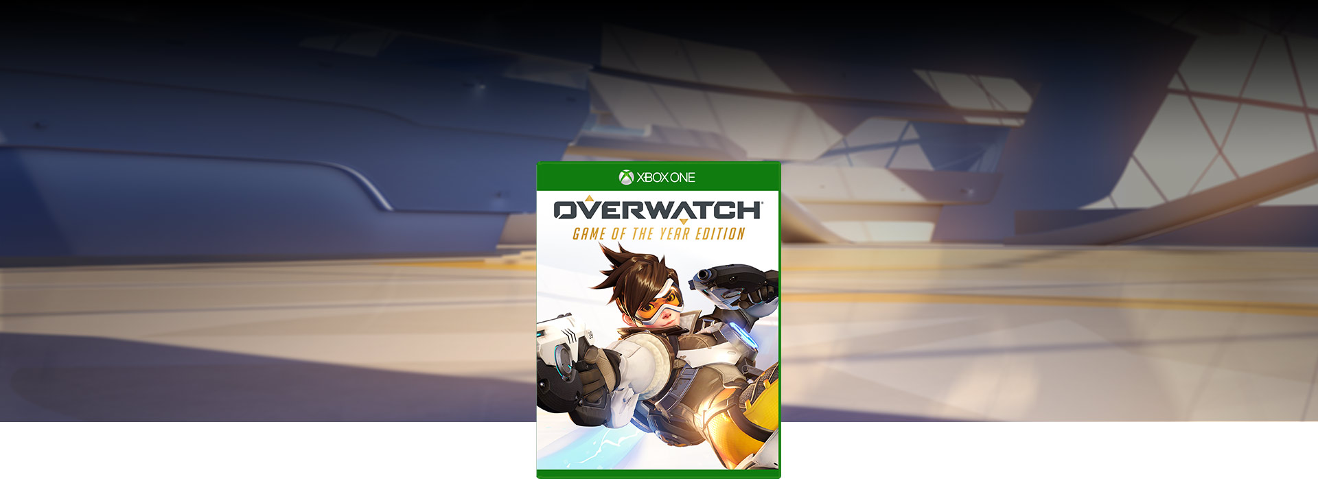 Generic view of modern hall (Overwatch Game of the Year Edition boxshot)