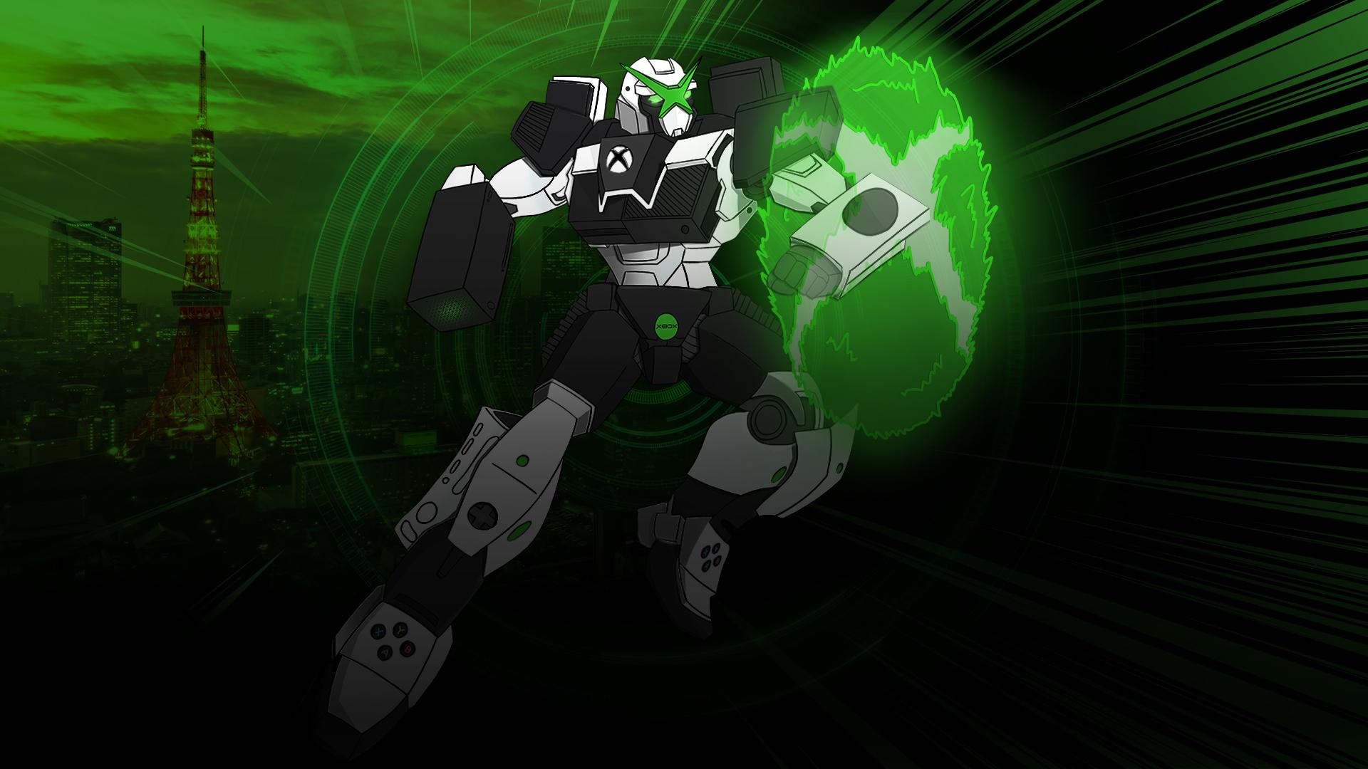 Xbox에서 영감을 받은 로봇, 오른팔용 Xbox Series X, 왼팔용 Xbox Series S 등