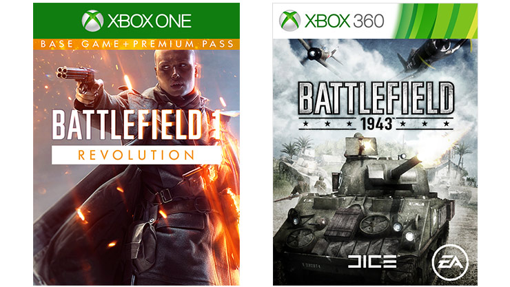 Battlefield 1 and Battlefield 1943 boxshot