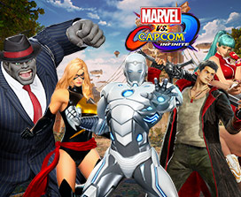 View of Marvel and Capcom characters ready to play