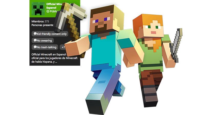 Jugadores de Minecraft compartiendo en el chat de un Club