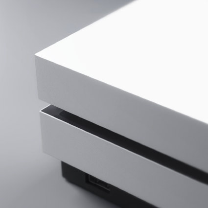 View of the Xbox One S disc tray