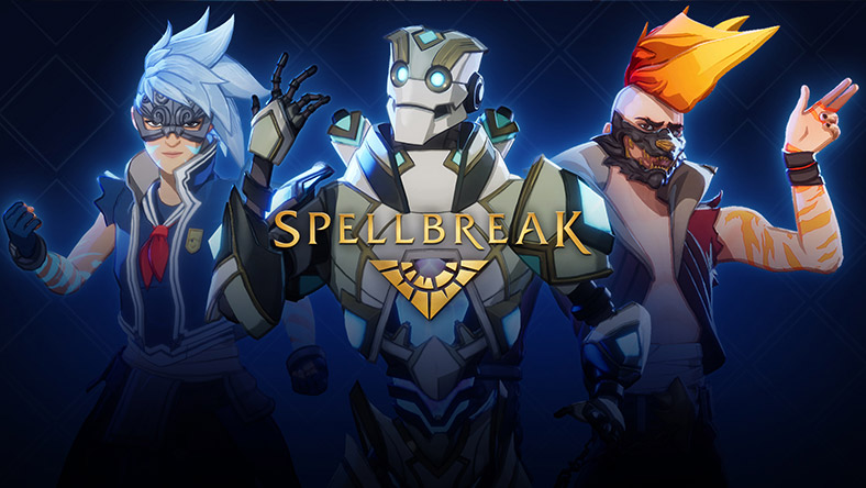 Spellbreak Chapter 3 Pass, Three game characters and Spellbreak Logo