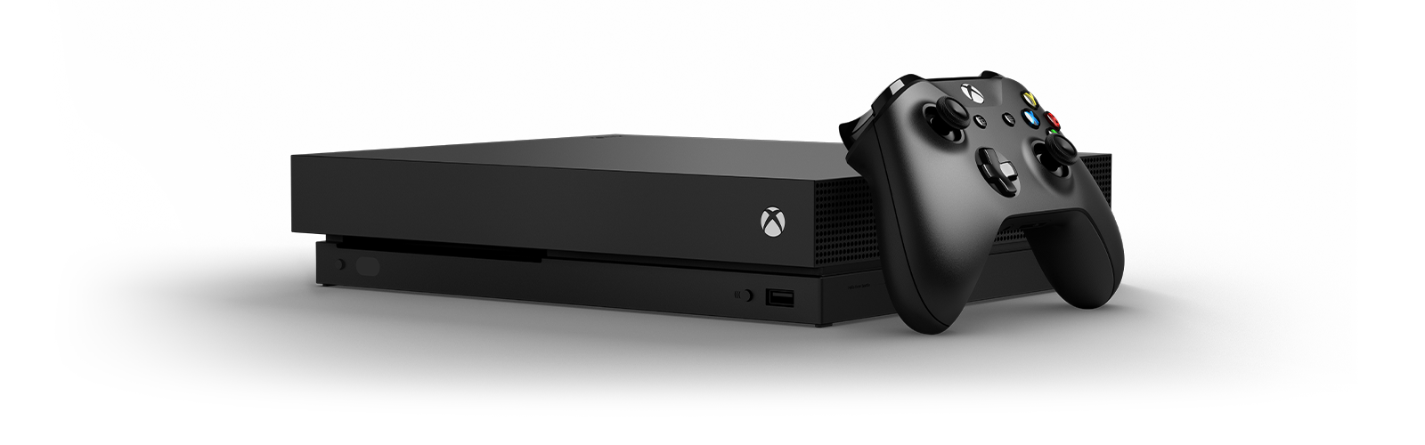 Front view of an Xbox One X