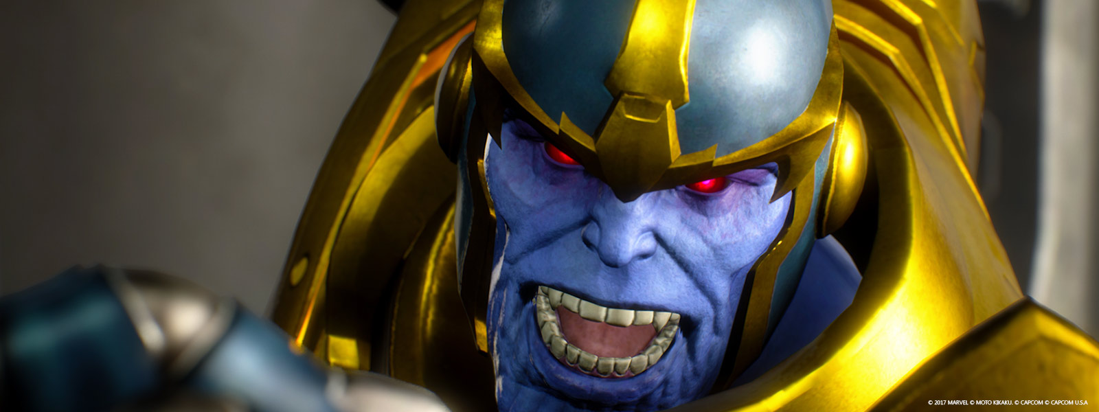 Close up shot of Thanos