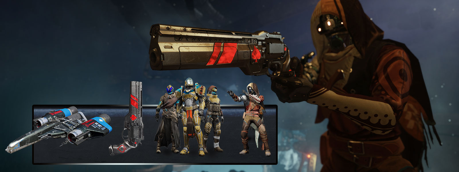 Guardian bærer Cayde-6's Last Hand Exotic Hand Cannon