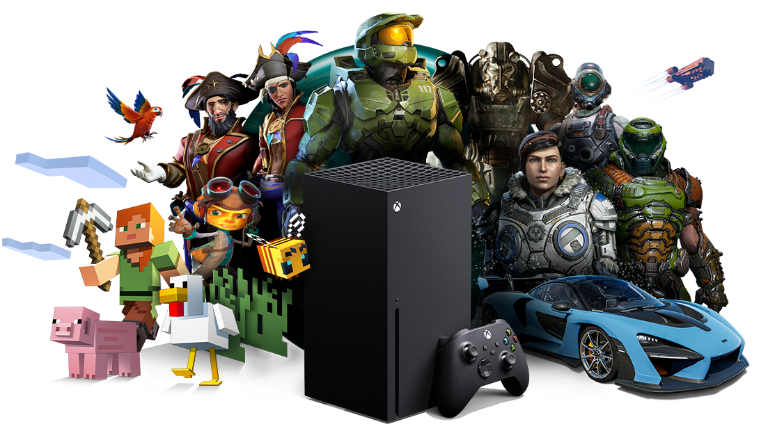 Xbox All Access, Xbox SeriesX with Xbox game characters