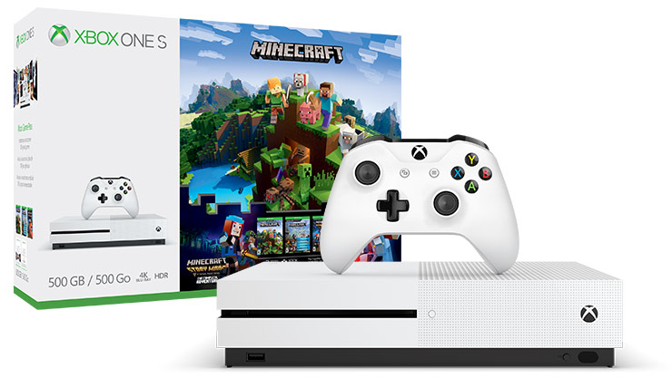 Xbox One S Minecraft Complete Adventure Bundle -konsolipaketti (500 Gt)
