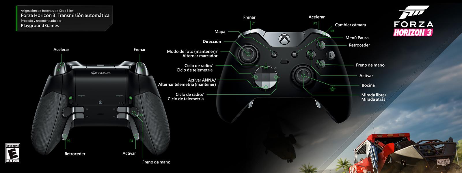 Forza Horizon 3: transmisión automática (asignación de funciones del control Elite)