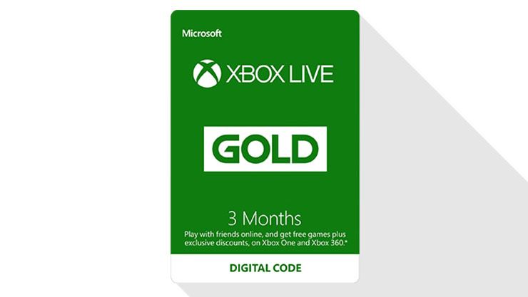 Three month Xbox Live digital codes