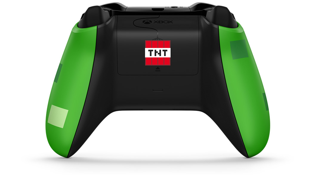 Back of Minecraft Creeper Controller