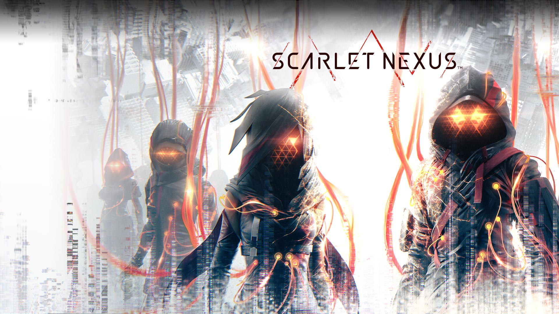 Scarlet Nexus, Dark characters with glowing eyes attached to tubes and wires