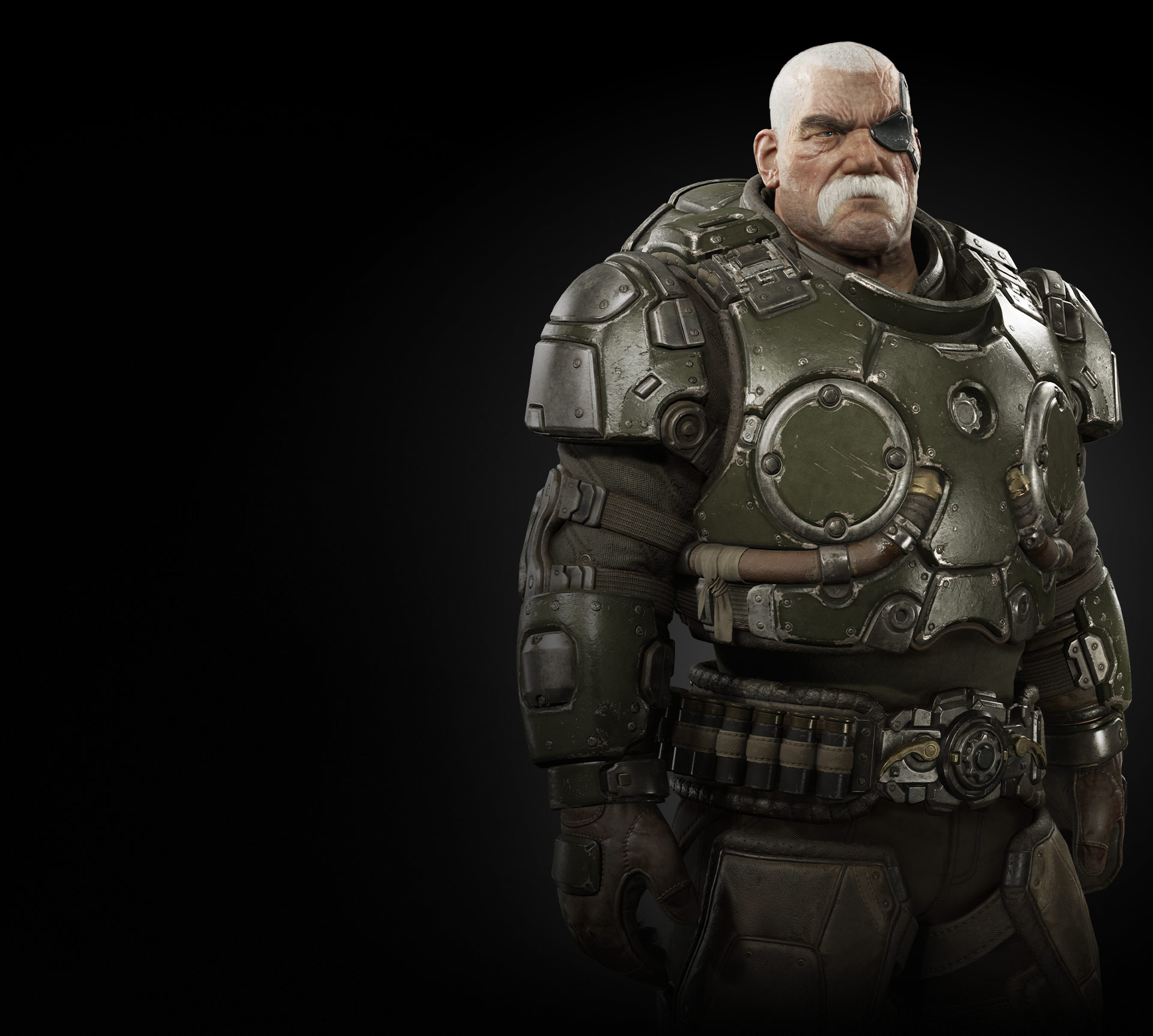 Torso view of Sid Redburn from Gears Tactics