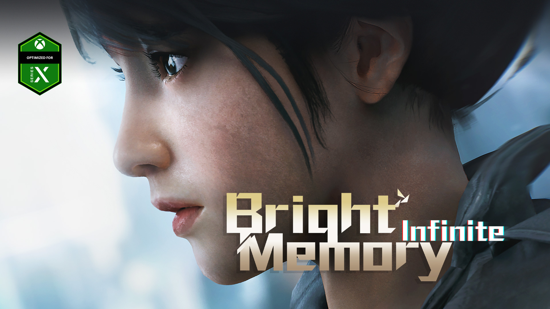 Bright Memory Infinite, Optimized for Series X, a young woman looks into the distance.
